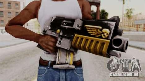 Um bolter de Warhammer 40k para GTA San Andreas terceira tela