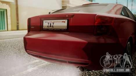 Toyota Celica SS2 Tunable para GTA San Andreas vista traseira