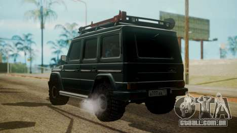 Mercedes-Benz G500 Off-Road para GTA San Andreas esquerda vista