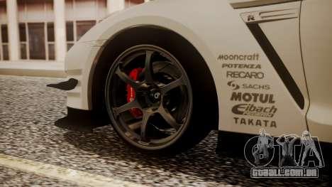 Nissan GT-R R35 2012 v2 para GTA San Andreas traseira esquerda vista