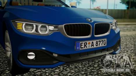 BMW M4 F32 Convertible 2014 para GTA San Andreas vista interior