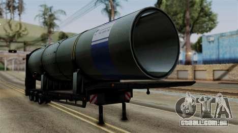 Overweight Trailer Black para GTA San Andreas