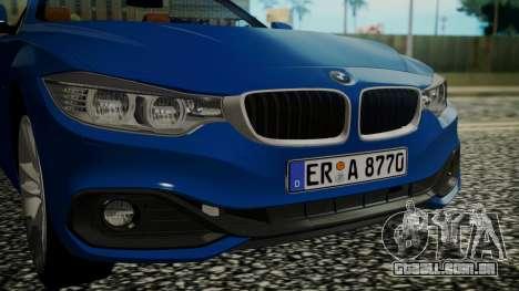 BMW M4 F32 Convertible 2014 para GTA San Andreas vista traseira