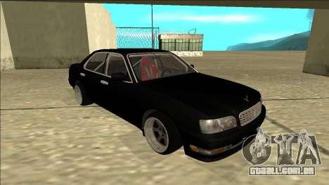 Nissan Cedric Drift para GTA San Andreas esquerda vista
