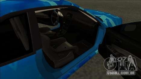 Nissan Skyline R34 Drift Blue Star para GTA San Andreas traseira esquerda vista
