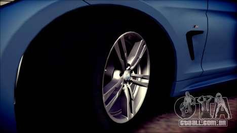 BMW 4 Series Coupe M Sport para vista lateral GTA San Andreas