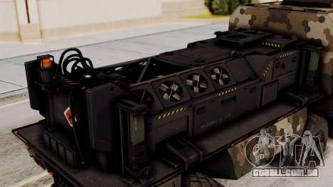 Tempestade (dispositivo) para GTA San Andreas vista traseira