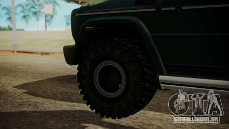 Mercedes-Benz G500 Off-Road para GTA San Andreas traseira esquerda vista
