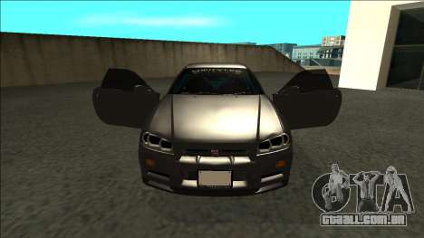 Nissan Skyline R34 Drift Monster Energy para GTA San Andreas vista interior
