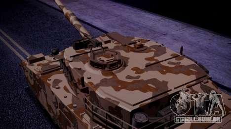GTA 5 Rhino Tank IVF para GTA San Andreas traseira esquerda vista