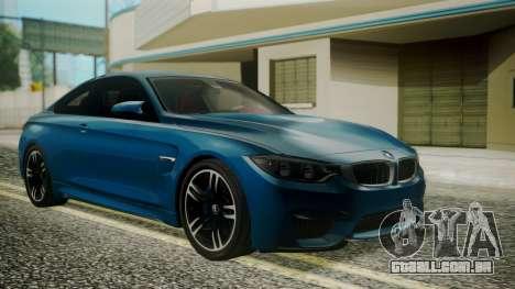 BMW M4 Coupe 2015 Brushed Aluminium para GTA San Andreas
