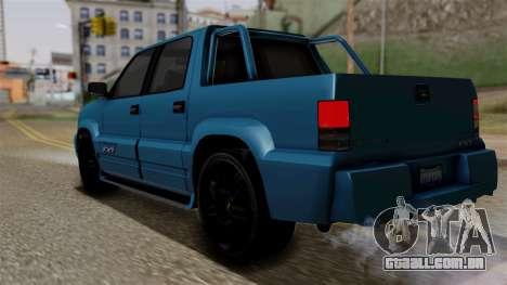 Syndicate Criminal (Cavalcade FXT) from SR3 para GTA San Andreas esquerda vista