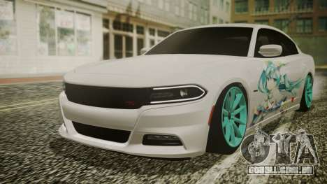 Dodge Charger RT 2015 Hatsune Miku para GTA San Andreas vista interior