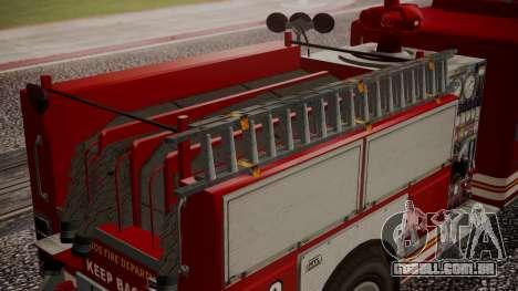 GTA 5 MTL Firetruck para GTA San Andreas vista direita