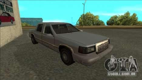 Stretch Sedan para GTA San Andreas esquerda vista