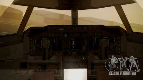 Boeing 747-400 Jat Airways para GTA San Andreas vista traseira