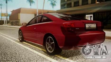 Toyota Celica SS2 Tunable para GTA San Andreas esquerda vista