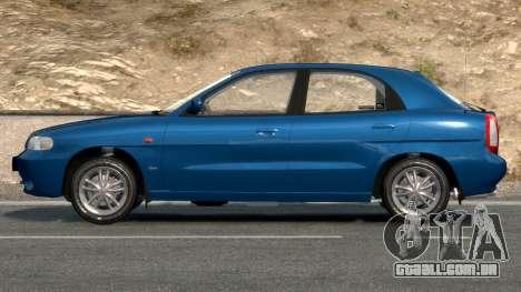 Daewoo Nubira I Hatchback CDX 1997 para GTA 4 vista lateral