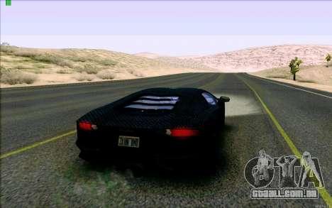 Lamborghini Aventador LP-700 Razer Gaming para GTA San Andreas vista direita