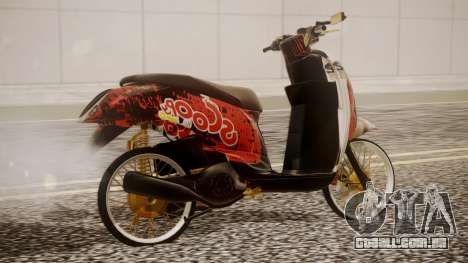 Honda Scoopy New Red para GTA San Andreas esquerda vista