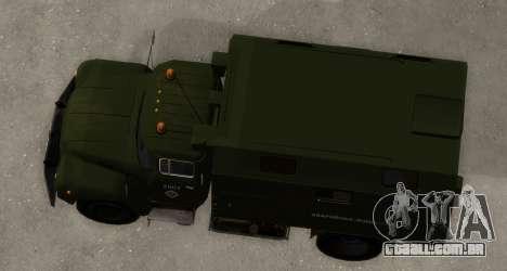 ZIL-130 de Água de Emergência para GTA San Andreas vista direita