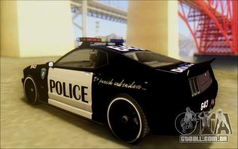 Insípido Dominator Transformadores De Carro De P para GTA San Andreas esquerda vista