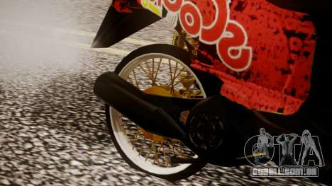 Honda Scoopy New Red para GTA San Andreas vista direita