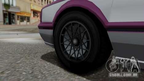 GTA 5 Albany Primo IVF para GTA San Andreas traseira esquerda vista