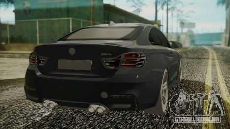 BMW M4 Coupe 2015 Carbon para GTA San Andreas esquerda vista