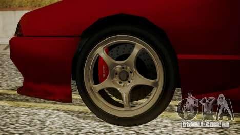 Elegy NR32 with Neon para GTA San Andreas traseira esquerda vista