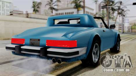 Comet from Vice City Stories para GTA San Andreas esquerda vista