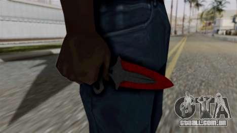 Sombra Punhal Sangrento teias de aranha para GTA San Andreas terceira tela