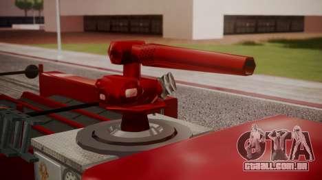GTA 5 MTL Firetruck para GTA San Andreas vista traseira