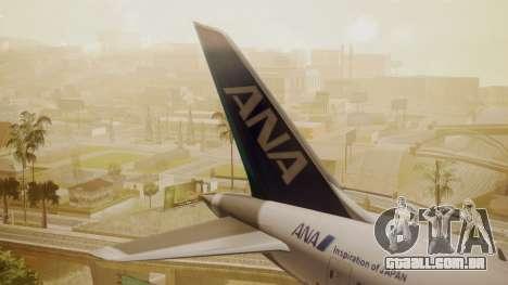 Boeing 787-9 ANA R2D2 para GTA San Andreas traseira esquerda vista