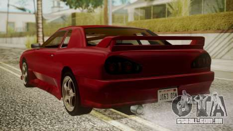 Elegy NR32 with Neon para GTA San Andreas esquerda vista