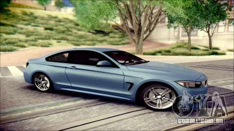 BMW 4 Series Coupe M Sport para GTA San Andreas esquerda vista