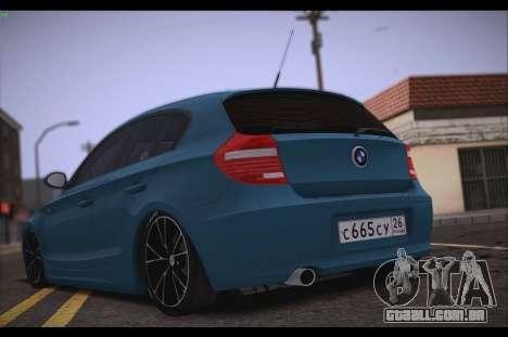 BMW 118i para GTA San Andreas traseira esquerda vista