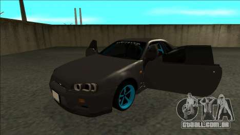 Nissan Skyline R34 Drift Monster Energy para GTA San Andreas vista traseira