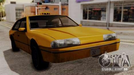 Taxi Emperor v1.0 para GTA San Andreas traseira esquerda vista