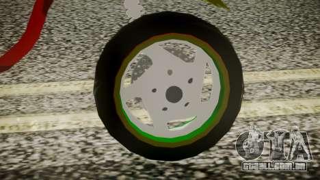 Proto Rasta para GTA San Andreas traseira esquerda vista