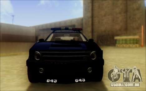 Insípido Dominator Transformadores De Carro De P para GTA San Andreas vista traseira