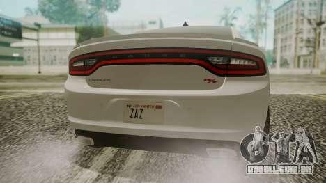 Dodge Charger RT 2015 Hatsune Miku para GTA San Andreas vista traseira