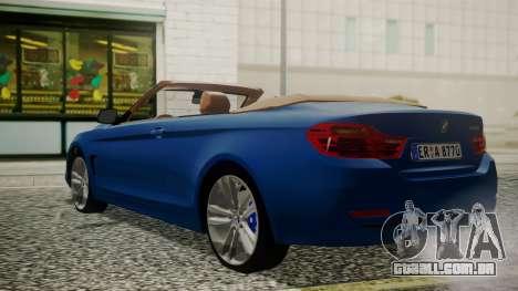BMW M4 F32 Convertible 2014 para GTA San Andreas esquerda vista