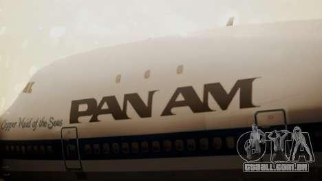 Boeing 747-100 Pan Am Clipper Maid of the Seas para GTA San Andreas vista traseira
