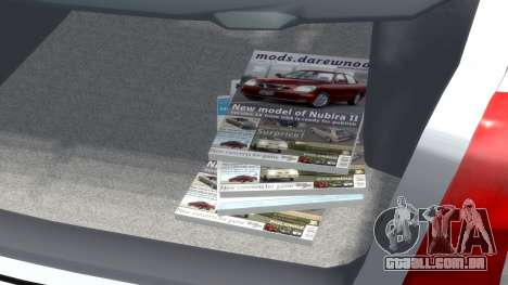 Daewoo Nubira I Hatchback CDX 1997 para GTA 4 vista superior