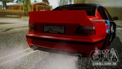 BMW M3 E36 Happy Drift Friends para GTA San Andreas vista traseira