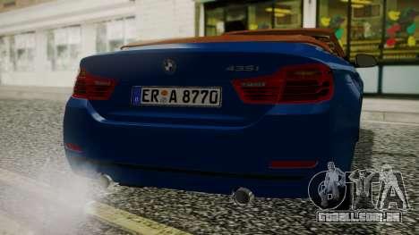 BMW M4 F32 Convertible 2014 para GTA San Andreas vista direita