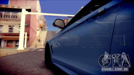 BMW 4 Series Coupe M Sport para GTA San Andreas vista interior