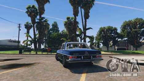 GTA 5 Mercedes-Benz 300SEL 6.3 v1.3 traseira vista lateral esquerda