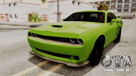 Dodge Challenger SRT Hellcat 2015 IVF para as rodas de GTA San Andreas